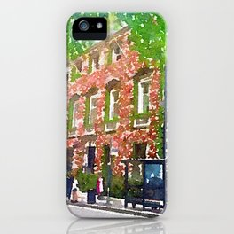 Annabel's London with Green Tree iPhone Case