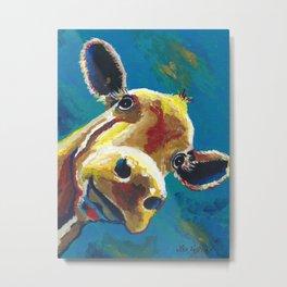 Colorful Cow art 'Gertrude' Metal Print