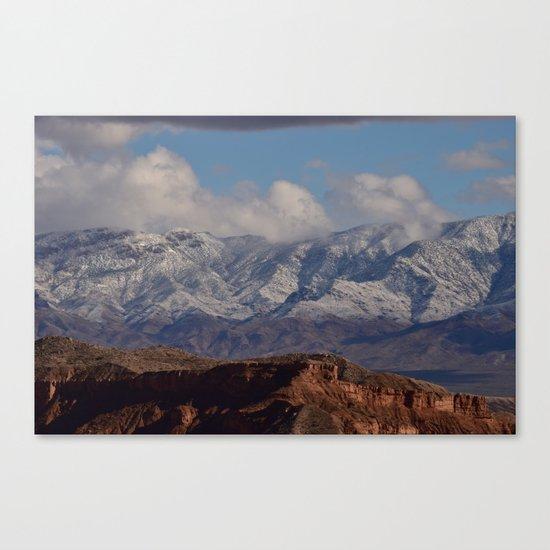 Desert Snow on Christmas - II Canvas Print