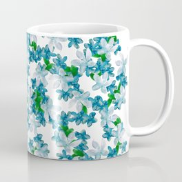 Summer Blues, Floral Pattern Coffee Mug