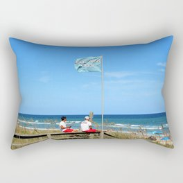 Overseers At The Beach Rectangular Pillow