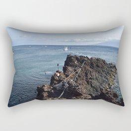 cliff jump Rectangular Pillow