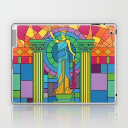 Statue Of Justice Glass Mosaic Painting Colorful Art Gift Laptop & iPad Skin