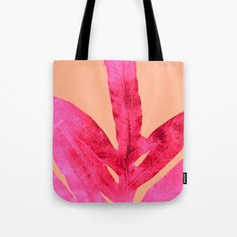 Peach Pink Ferns, Living Coral Tote Bag