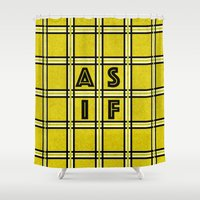 clueless Shower Curtains featuring AS IF by Ricki Lynn