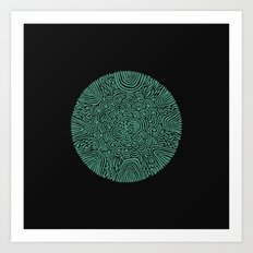 Primitive Green Circle Art Print