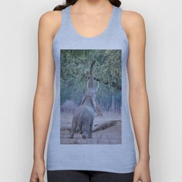 Elephant reaching for Acacia tree Unisex Tank Top