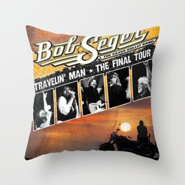 BOB SEGER TRAVELIN MAN FINAL TOUR DATES 2019 CUMI CUMI Throw Pillow