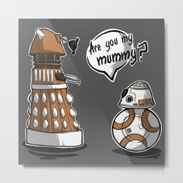 Are you my mummy? - Orange version Metal Print