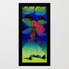 Winter fairy Art Print