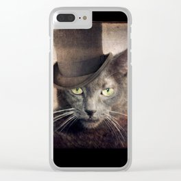 Russian Blue - Captain Grey Clear iPhone Case