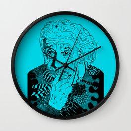 Albert Einstein - turquoise Wall Clock