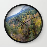 forrest Wall Clocks featuring Forrest  by Veronika