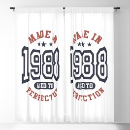 Made In 1988 Aged To Perfection Birthday Gift Blackout Curtain