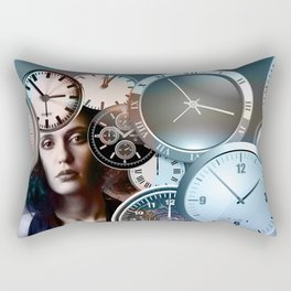 Time Clock Rectangular Pillow