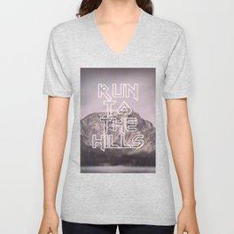 Run To The Hills Unisex V-Neck