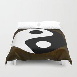 Yin and Yang - Brown Duvet Cover