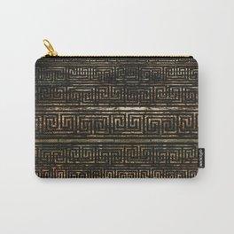 Wooden Greek Meander Pattern - Greek Key Ornament Carry-All Pouch