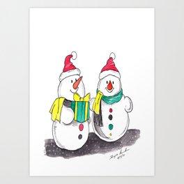Christmas The Joys of Smiles Art Print
