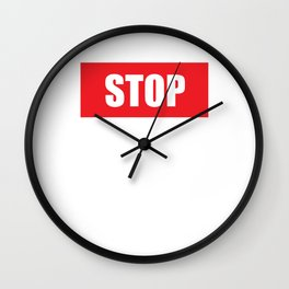 Stop Wondering Start Making Motivational T-Shirt Wall Clock