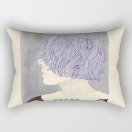 Wet Hair Rectangular Pillow