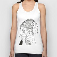 introvert Tank Tops featuring Introvert 1 by Heidi Banford