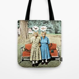 Two Cool Kitties: What's for Lunch? Tote Bag