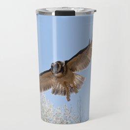 Indian Brown Wood Owl Travel Mug