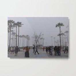Venice Beach Sculpture, CA Metal Print