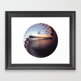 circular beach Framed Art Print