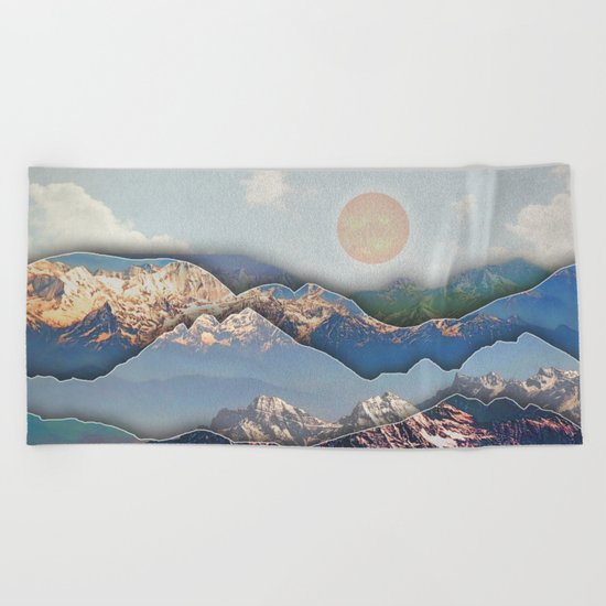 Rolling Mountains Beach Towel