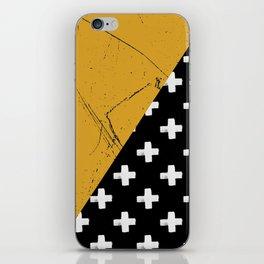 Swiss crosses (grunge) iPhone Skin