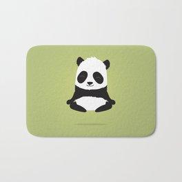 Mindful panda levitating Bath Mat