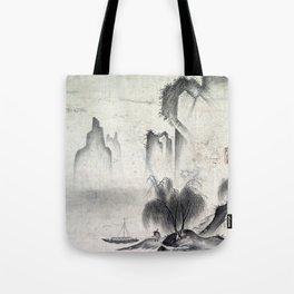 Kannan Figure Mooring a Boat Tote Bag