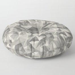 Abstract Geometrical Triangle Patterns 3 Benjamin Moore 2019 Trending Color Balboa Mist Light Pastel Floor Pillow