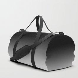 Blurred Black and White Duffle Bag