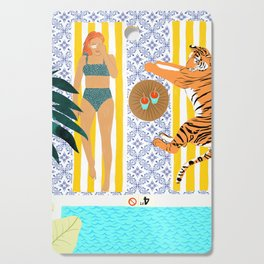 How To Vacay With Your Tiger #illustration Cutting Board
