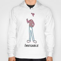 waldo Hoodies featuring Invisible Waldo by Chris Bey