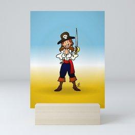 Pirate Girl Mini Art Print