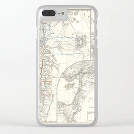 Old 1865 Historic State of Palestine Map Clear iPhone Case