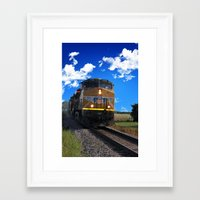train Framed Art Prints featuring Train by Phil Flaig