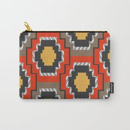 Shapes in red and grey Carry-All Pouch