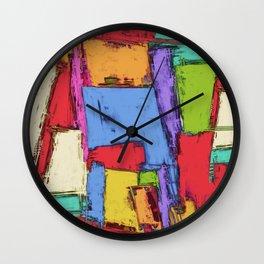 Broken fields Wall Clock