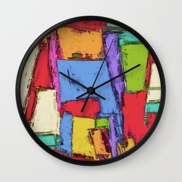 Broken fields Wall Clock
