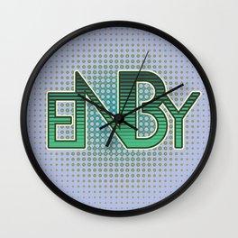 ENBY Green Wall Clock