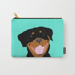 Rottweiler graphic on Mint Carry-All Pouch