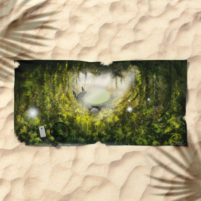 Totoro's Dream Beach Towel