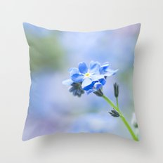 Forget-me-not in LOVE - Springflower Flowers Throw Pillow