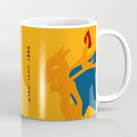 charizard Mugs featuring 006 Charizard by AuroraDrops