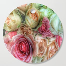 Roses - Pink and Cream Cutting Board